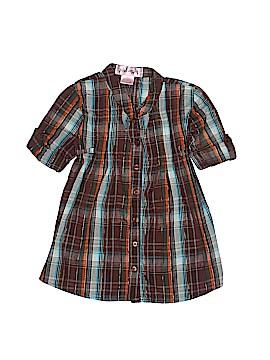 Pink Angel Short Sleeve Button-Down Shirt Size 2T