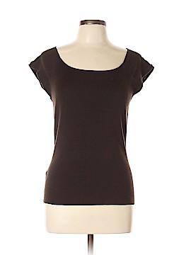 Ann Taylor Factory Short Sleeve Silk Top Size L