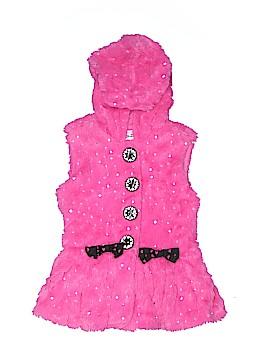 Little Lass Faux Fur Vest Size 5T