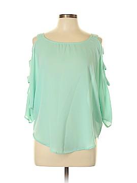 San Joy 3/4 Sleeve Blouse Size L