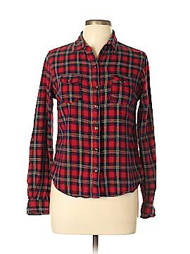 Passport Long Sleeve Button-Down Shirt Size L