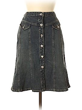 INC International Concepts Denim Skirt Size 4