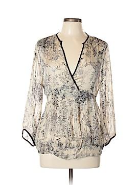 Zara Basic 3/4 Sleeve Silk Top Size XL
