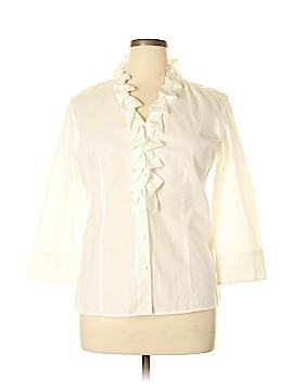 Talbots 3/4 Sleeve Blouse Size 14