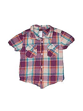 Tea Short Sleeve Button-Down Shirt Size 4