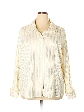 Lane Bryant Long Sleeve Button-Down Shirt Size 26 - 28 Plus (Plus)