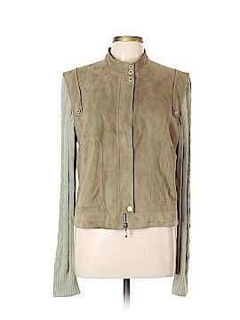 St. John Sport Leather Jacket Size L