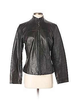 Merona Leather Jacket Size S