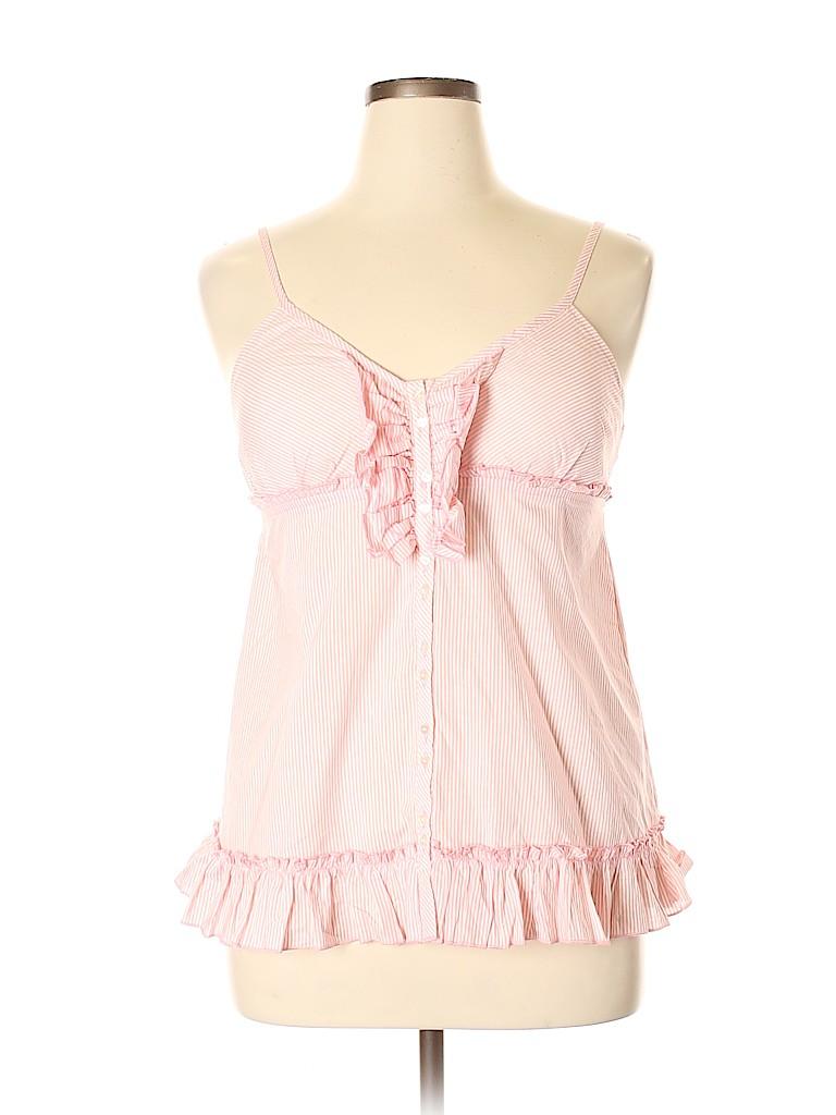 L.e.i. Women Sleeveless Button-Down Shirt Size XL