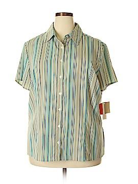 Croft & Barrow Short Sleeve Button-Down Shirt Size 2X (Plus)