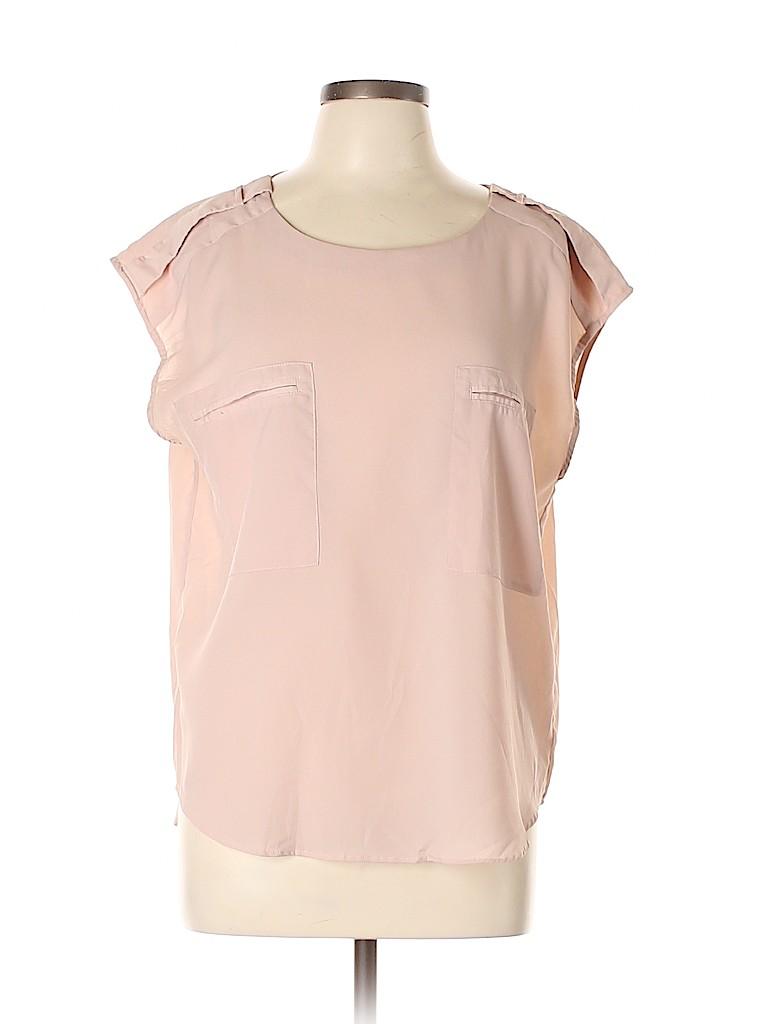 Joe Fresh Women Short Sleeve Blouse Size L