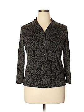 Casual Corner Annex Long Sleeve Button-Down Shirt Size XL