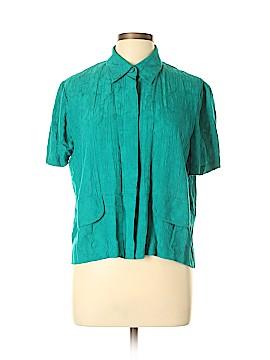 Karin Stevens Short Sleeve Blouse Size 12