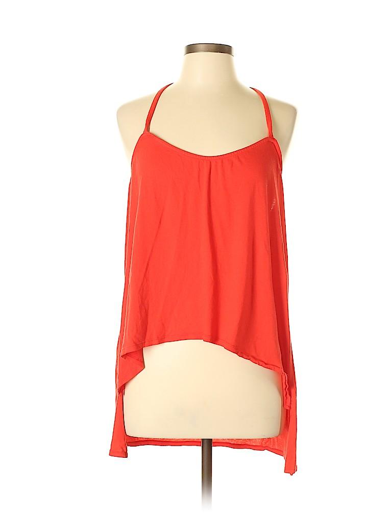 59b8e6619da Bobi 100% Cotton Solid Red Sleeveless Top Size L - 58% off