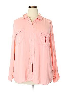 A.n.a. A New Approach Long Sleeve Button-Down Shirt Size 2X (Plus)