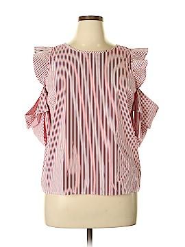Maison Jules Short Sleeve Blouse Size XL
