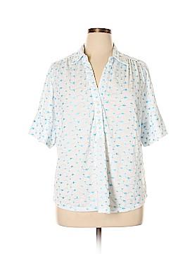 Cathy Daniels 3/4 Sleeve Button-Down Shirt Size 1X (Plus)