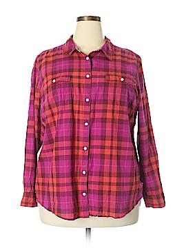 St. John's Bay Long Sleeve Button-Down Shirt Size 2X (Plus)