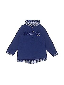 CALVIN KLEIN JEANS Long Sleeve Henley Size 2T