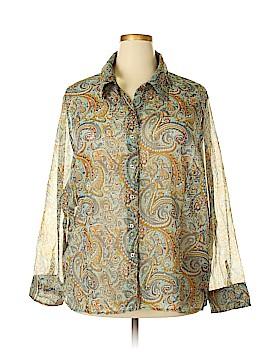 Faded Glory Long Sleeve Blouse Size 26 - 28w (Plus)