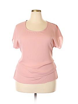 Libian Short Sleeve Blouse Size 3X (Plus)