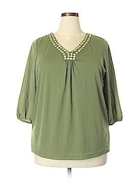Sag Harbor 3/4 Sleeve Blouse Size 1X (Plus)