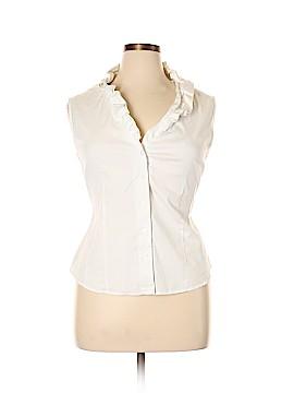 Kasper Sleeveless Button-Down Shirt Size 16