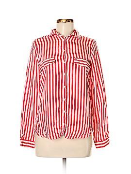 Zara W&B Collection Long Sleeve Button-Down Shirt Size M