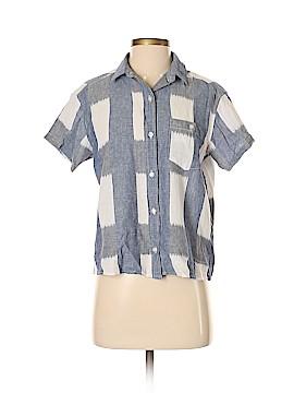 Current/Elliott Short Sleeve Button-Down Shirt Size Sm (1)