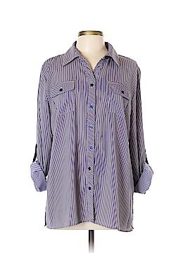 Elementz Long Sleeve Button-Down Shirt Size L