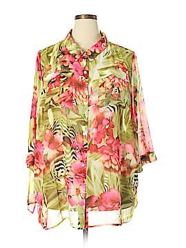 Susan Graver 3/4 Sleeve Blouse Size 3X (Plus)