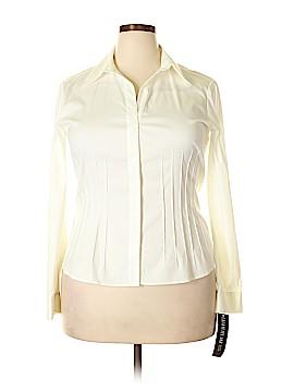 Lafayette 148 New York Long Sleeve Button-Down Shirt Size 14