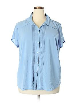 Allison Morgan Short Sleeve Blouse Size 2X (Plus)