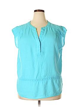 Saint Tropez West Short Sleeve Blouse Size XL