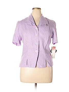 R&K Originals Short Sleeve Button-Down Shirt Size 14