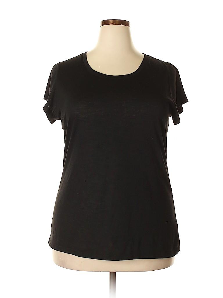 Derek Heart Women Short Sleeve T-Shirt Size 2X (Plus)