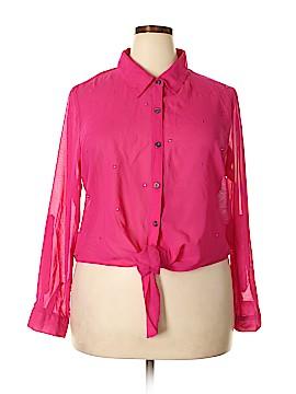 Jamie Nicole Collection Long Sleeve Blouse Size 2X (Plus)