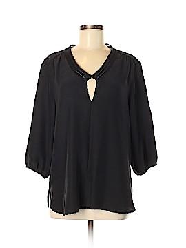 Patterson J. Kincaid 3/4 Sleeve Silk Top Size M