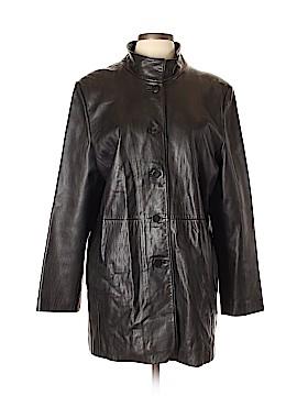 AK Anne Klein Leather Jacket Size L