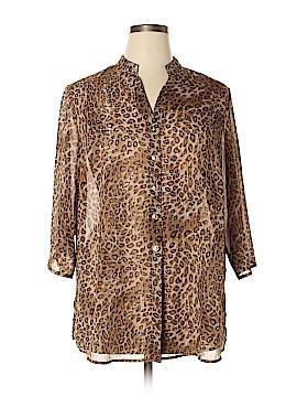 Susan Graver 3/4 Sleeve Blouse Size 1X (Plus)