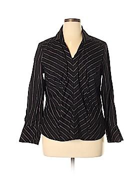 Lane Bryant Long Sleeve Button-Down Shirt Size 14 - 16 Plus (Plus)