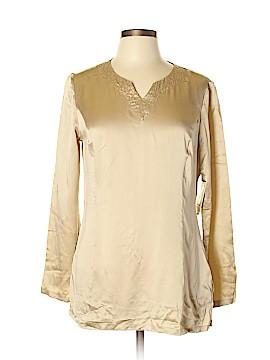 Reba Long Sleeve Silk Top Size L