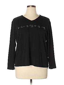 Liz Claiborne Long Sleeve T-Shirt Size 2X (Plus)