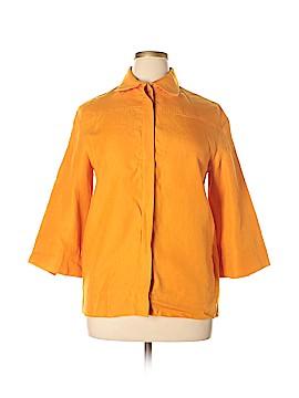 Loro Piana 3/4 Sleeve Button-Down Shirt Size 46 (IT)