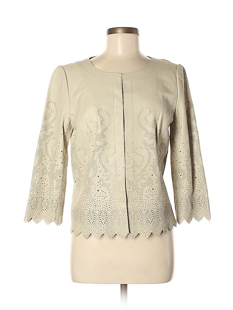 Tory Burch Women Leather Jacket Size 8