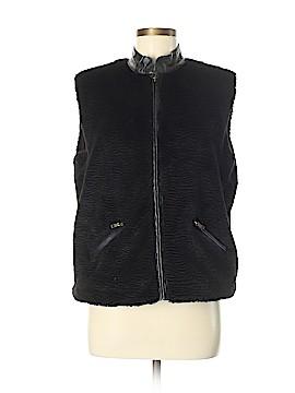 Chico's Faux Fur Vest Size Med (1)