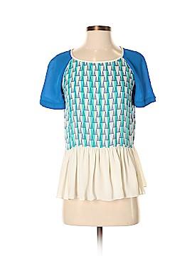 Rebecca Minkoff Short Sleeve Silk Top Size 6