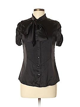 RENA LANGE Short Sleeve Silk Top Size 10