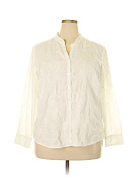 Sag Harbor Long Sleeve Button-Down Shirt Size 2X (Plus)