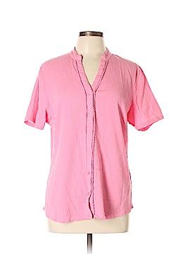 D&Co. Short Sleeve Blouse Size L